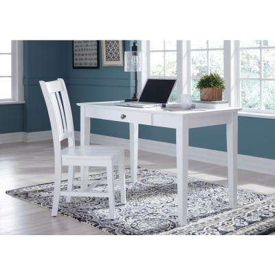 White Solid Wood Desk
