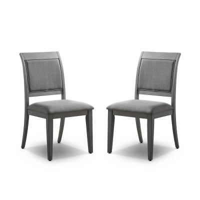 Newton Gray Side Chairs (Set of 2)