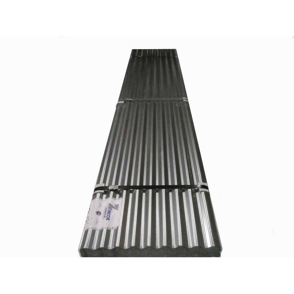2-1/2 in. x 10 ft. Metal Corrugated Roof Panel-10FTGZINC - The Home ...