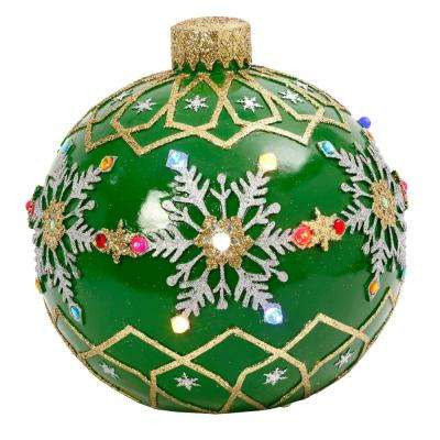 18 in. H Electric Green Ornament