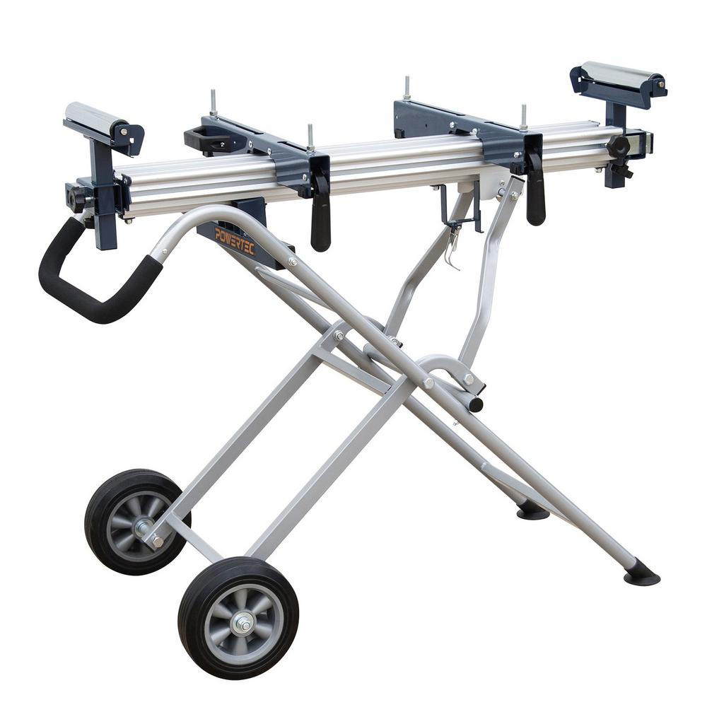 POWERTEC Rolling Miter Saw Stand