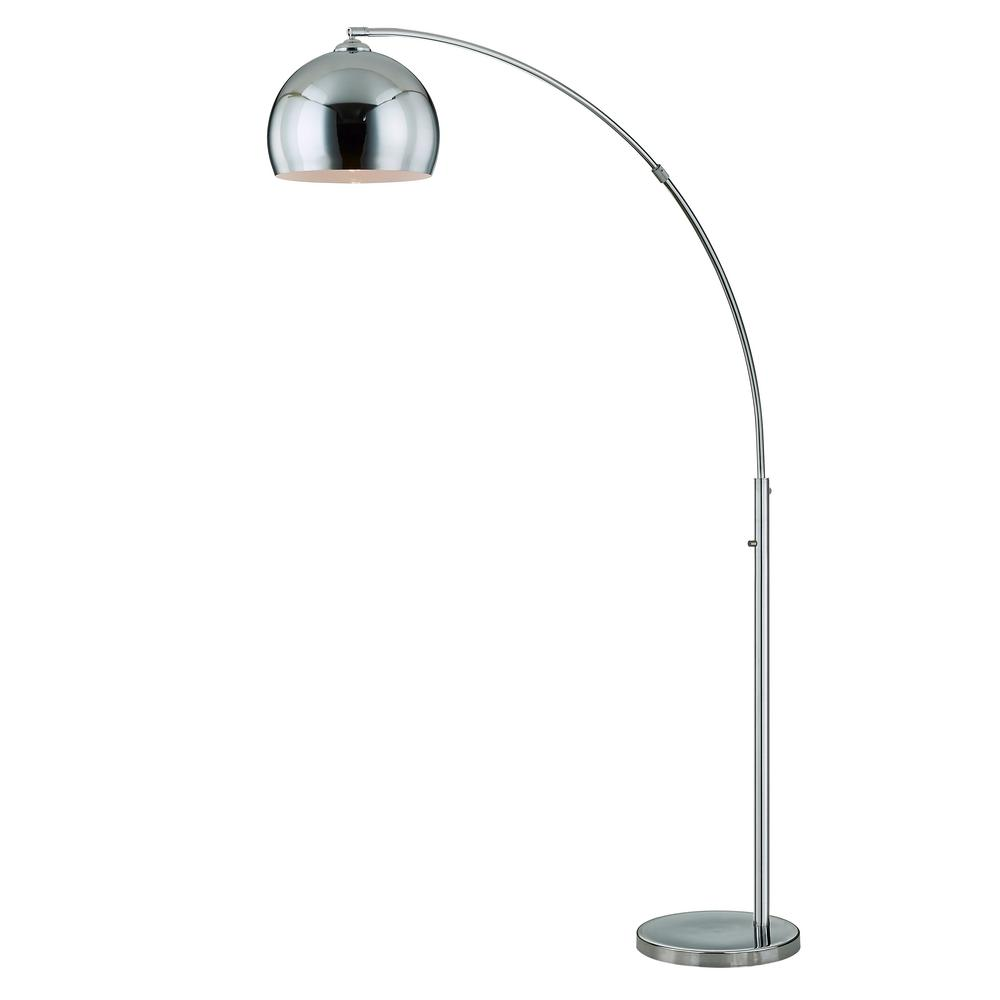 Alrigo Chrome Metal 80 in. LED Dimming Arched Floor Lamp