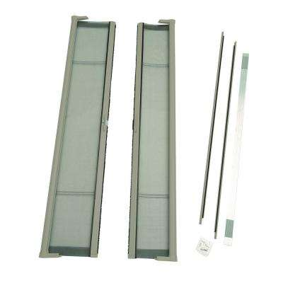 72 in. x 80 in. Brisa Sandstone Standard Height Double Door Kit Retractable Screen Door