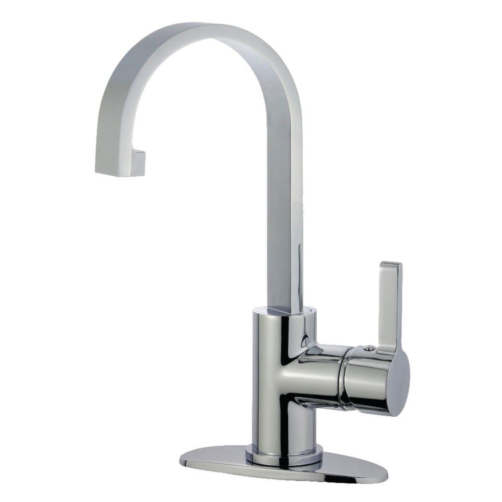 Modern Centerset Bathroom Faucets: Kingston Brass Modern 4 In. Centerset Single-Handle High