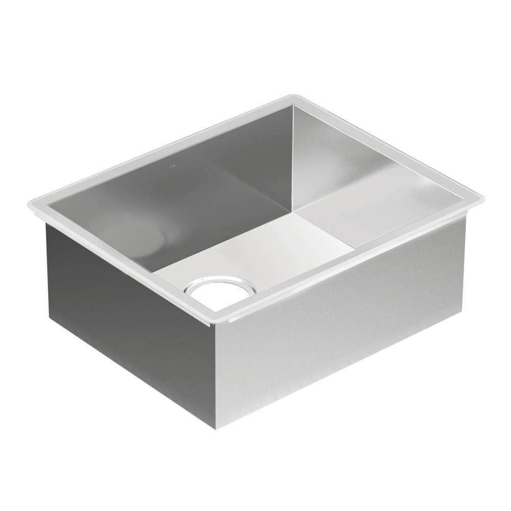 moen stainless steel kitchen sinks moen 1800 series undermount stainless steel 22 in single 9286