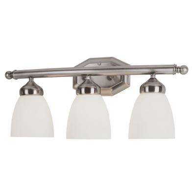 Ashlea 3-Light Brushed Nickel Bath Light