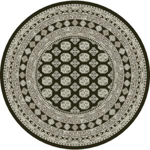 Dynamic Rugs Ancient Garden Charcoal/Silver 5 ft. 3 inch Round Area Rug by Dynamic Rugs