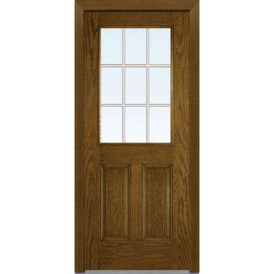 32 in. x 80 in. Grilles Between Glass Right-Hand 1/2  sc 1 st  The Home Depot & Walnut - Front Doors - Exterior Doors - The Home Depot pezcame.com