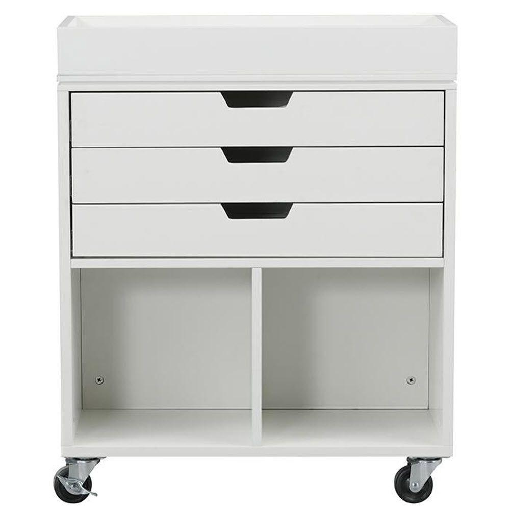Home Decorators Collection Avery 25 in. W 3-Drawer MDF Wr...