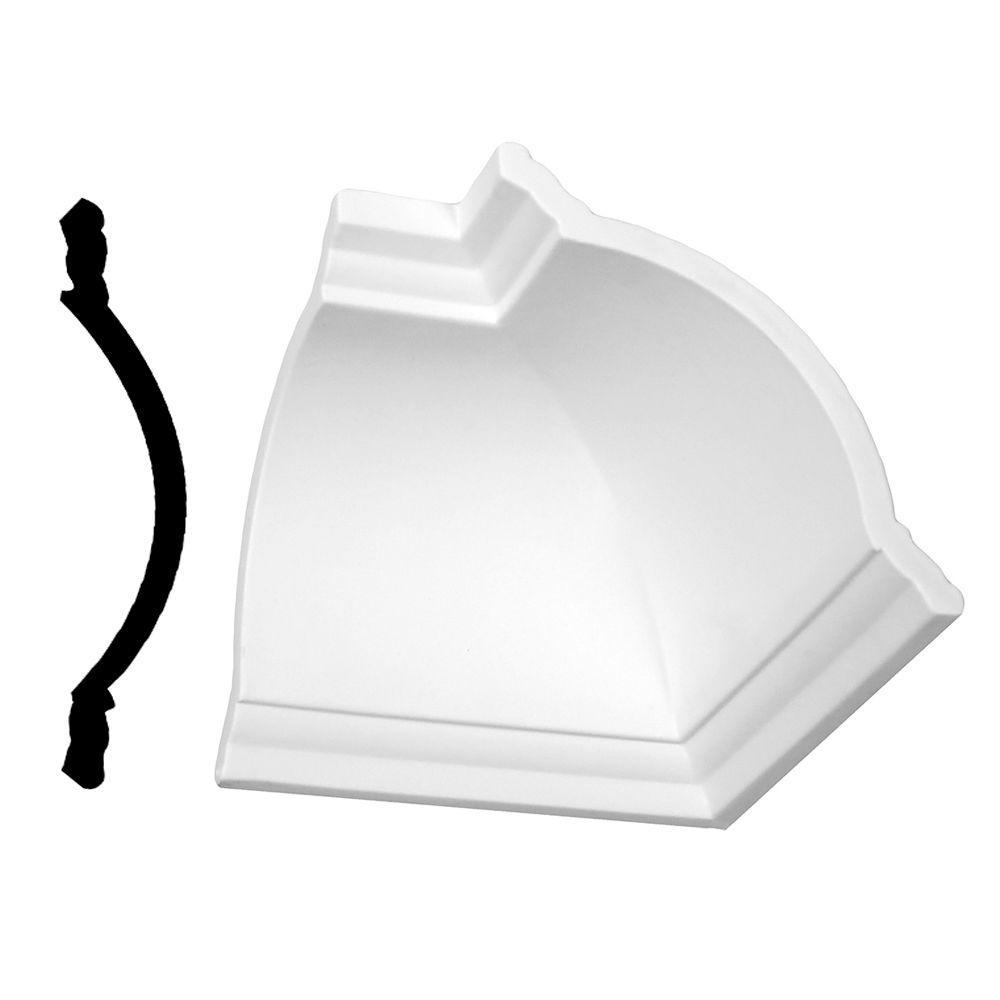 1/4 in. x 8-1/2 in. x 5 in. Primed Polyurethane Zoller Crown Inside Corner Block Moulding