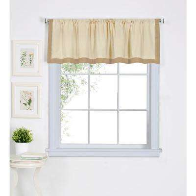 Wilton 60 in. W x 15 in. L Cotton Single Window Curtain Valance in Linen