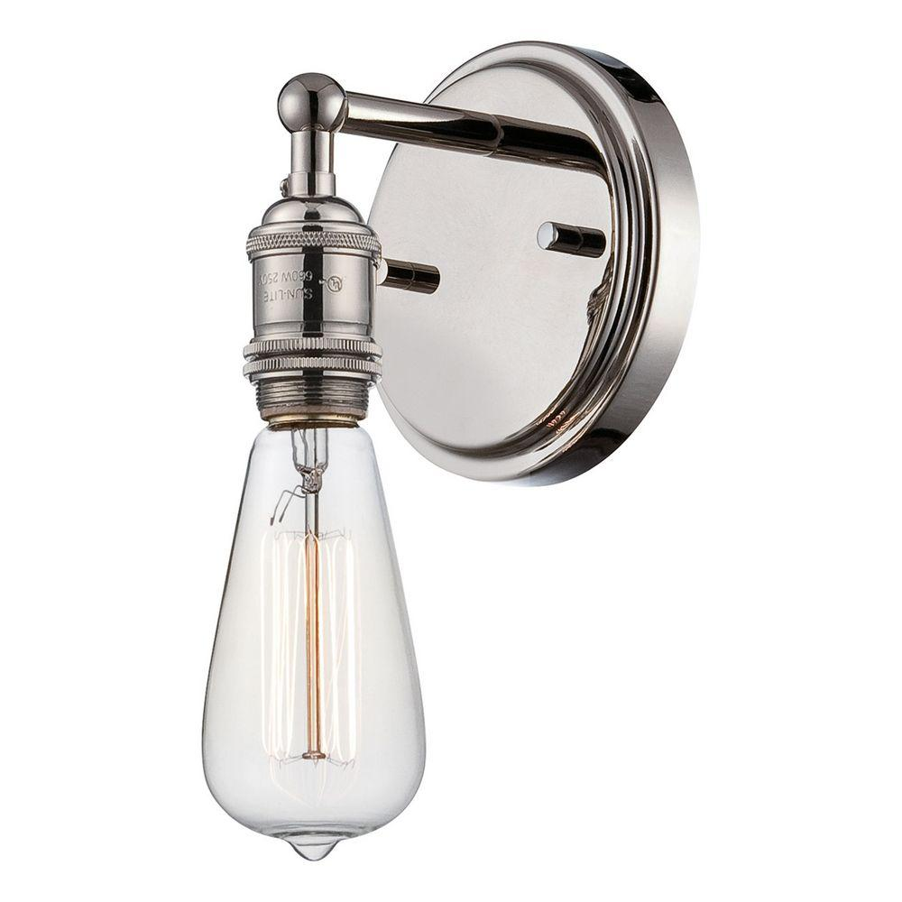 Filament Design Glomar 1-Light Polished Nickel Incandescent Sconce
