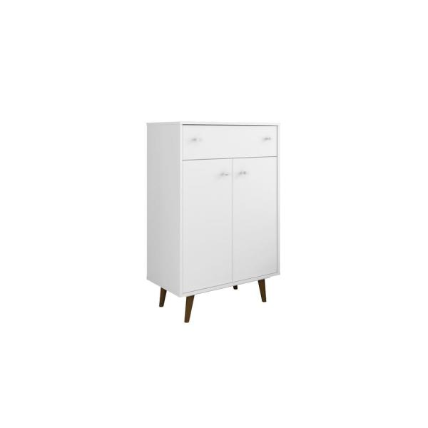 Manhattan Comfort Liberty 28.07 in. White Storage Cabinet 211BMC6