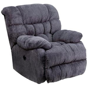 Superieur Flash Furniture Contemporary Columbia Indigo Blue Microfiber Power Recliner  With Push Button AMP94605861   The Home Depot