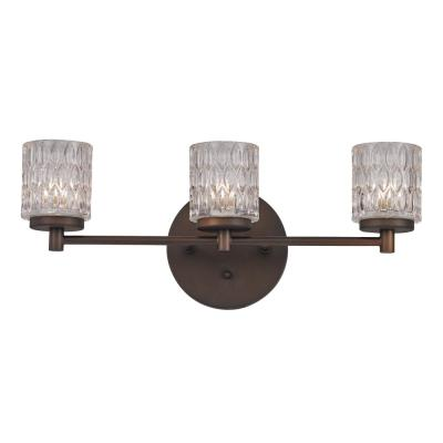 Bayou 3-Light Rubbed Oil Bronze Bath Light