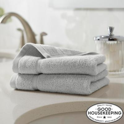 Turkish Cotton Ultra Soft Wash Cloth in Shadow Gray (Set of 2)