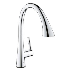 Ladylux L2 Touch Single-Handle Pull-Out Sprayer Kitchen Faucet with Touch Activation in StarLight Chrome