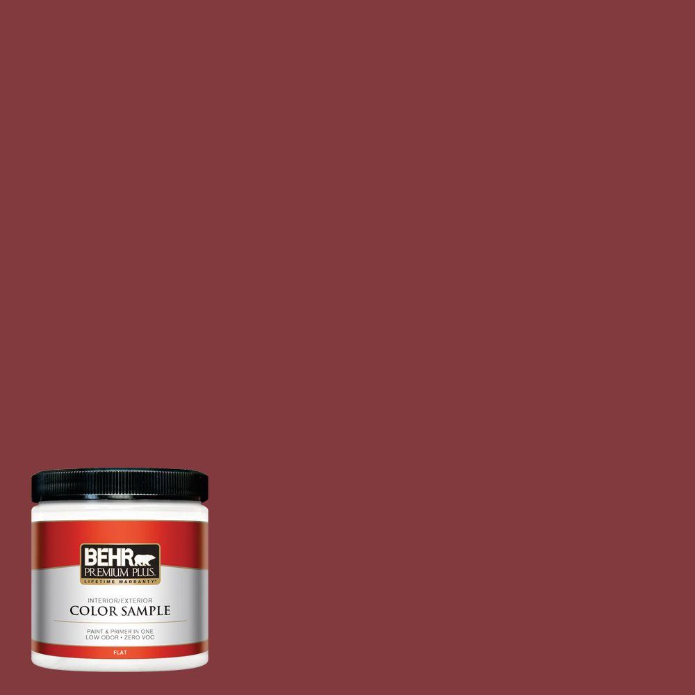 S H 130 Red Wine Flat Interior Exterior Paint And Primer In One Sample