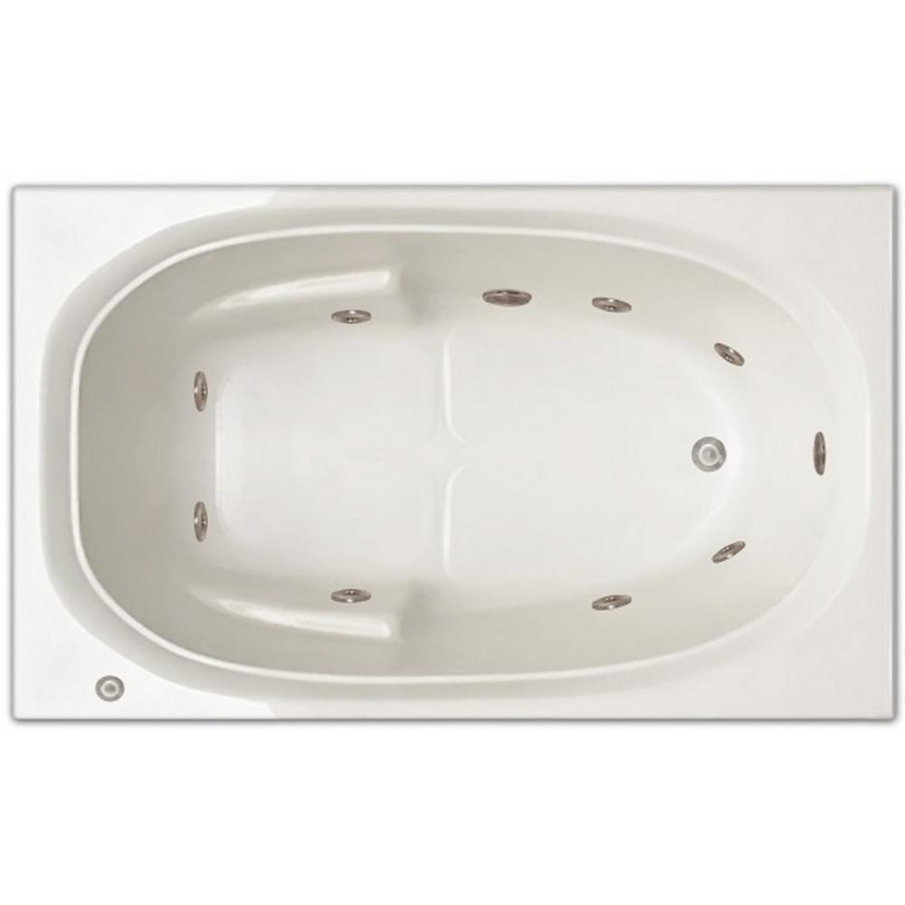 Pinnacle 5 ft. Right Drain Drop-in Rectangular Whirlpool Bathtub in ...