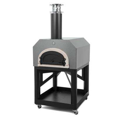 CBO-750 40 in. x 35-1/2 in. Mobile Wood Burning Pizza Oven in Silver