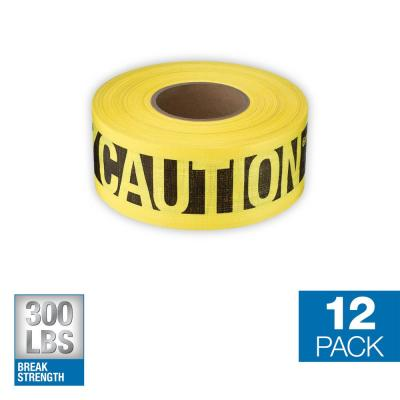 3 in. x 500 ft. Reinforced Caution Tape (12-Pack)