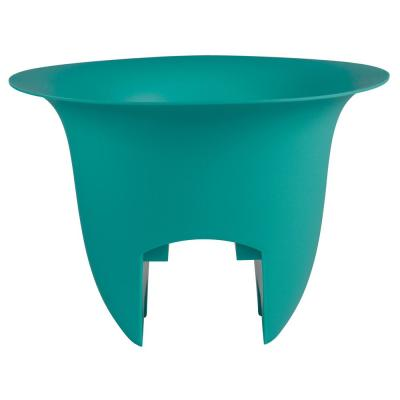 Modica 12 in. x 8.75 in. Bermuda Teal Plastic Deck Rail Planter