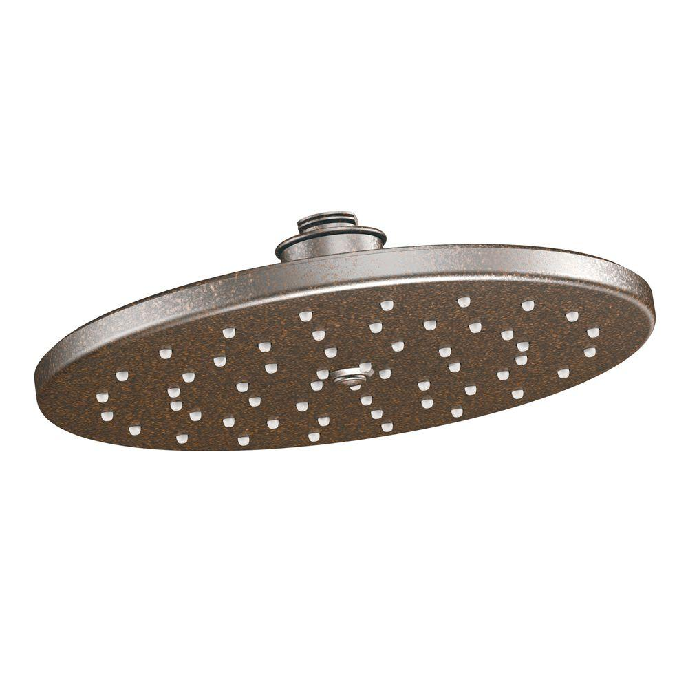 MOEN Waterhill 1 Spray 10 In. Rainshower Showerhead Featuring Immersion In  Oil Rubbed Bronze S112ORB   The Home Depot