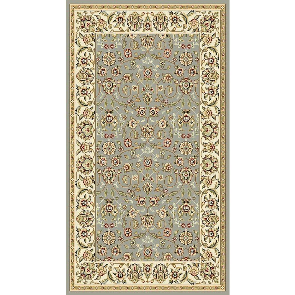 Kas Rugs Peacock Quill Light Blue 3 Ft 3 In X 5 Ft 3 In