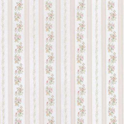 Sybill Pink Stripe Wallpaper