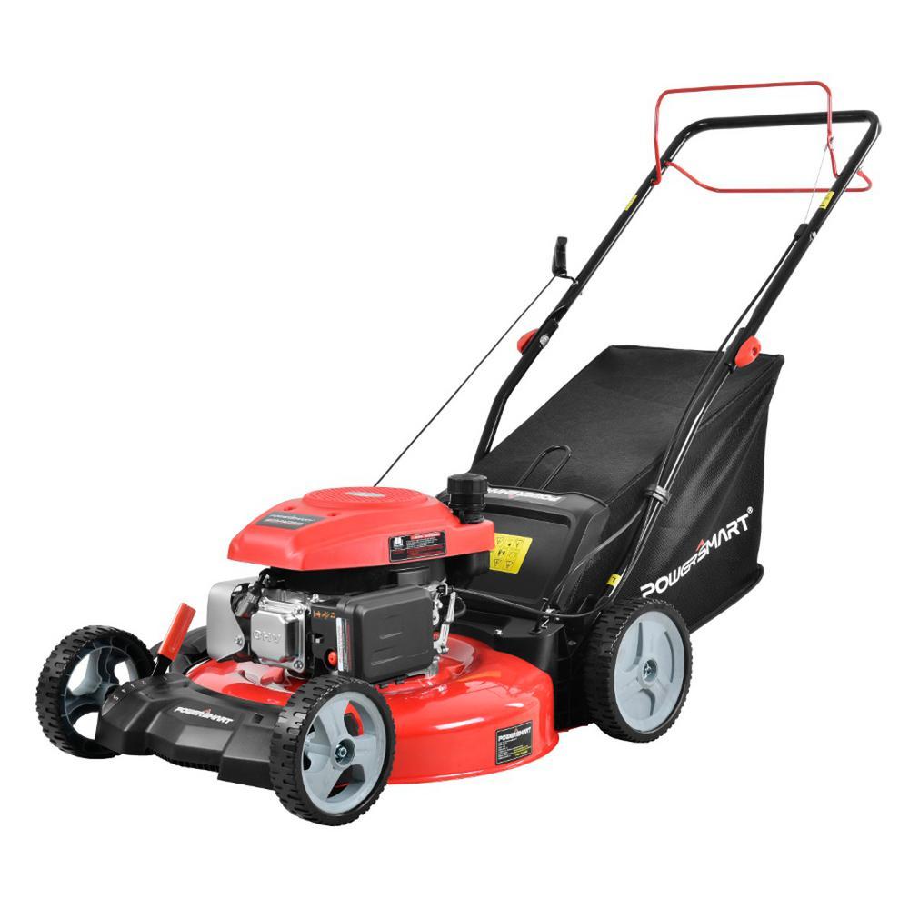 Stand Behind Lawn Mower >> Powersmart 21 In 3 In 1 161cc Gas Self Propelled Walk Behind Lawn Mower