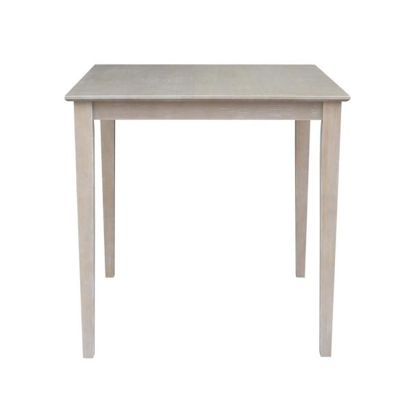 Weathered Taupe Gray Shaker Counter Height Table