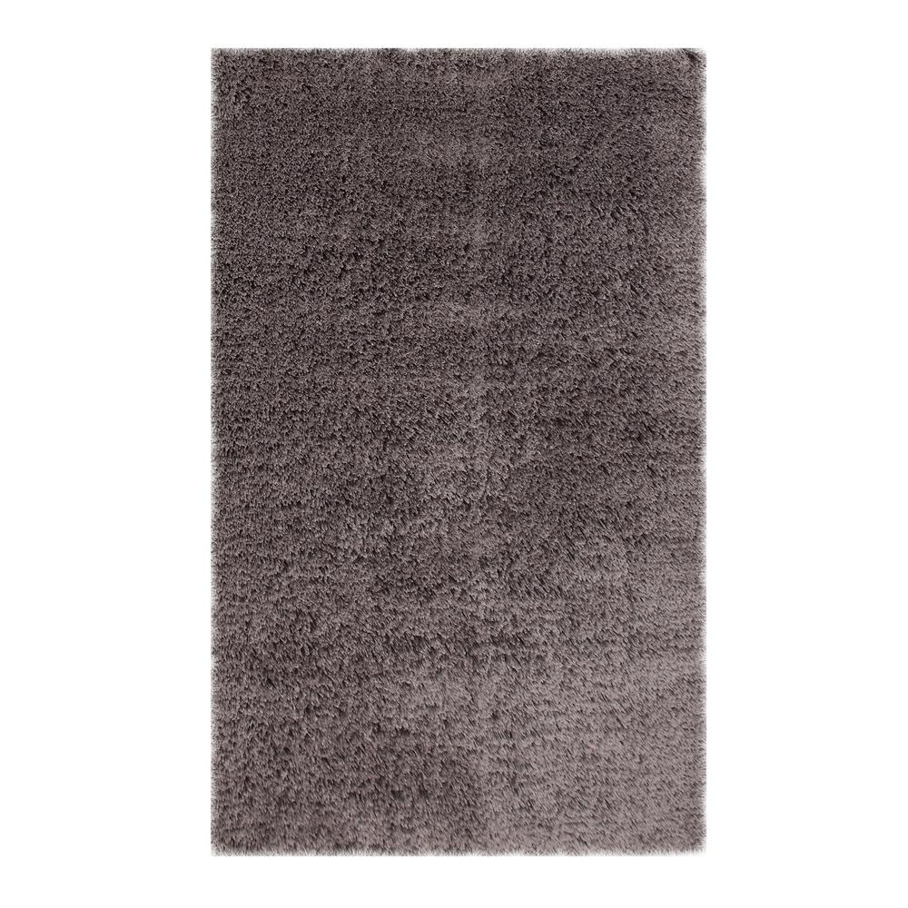 Microfiber Shag Grey 7 ft. 3 in. x 9 ft. 3