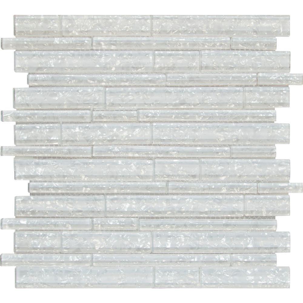 Akoya Brick 12 in. x 12 in. x 8mm Glass Mesh-Mounted Mosaic Wall Tile