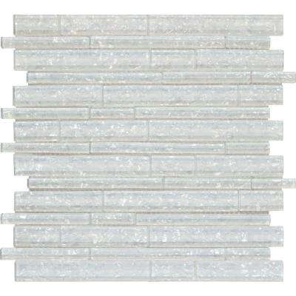 Akoya Brick 12 in. x 12 in. x 8 mm Glass Mesh-Mounted Mosaic Wall Tile