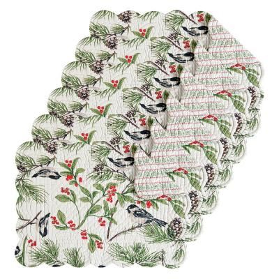 Chickadee Green Placemat (Set of 6)