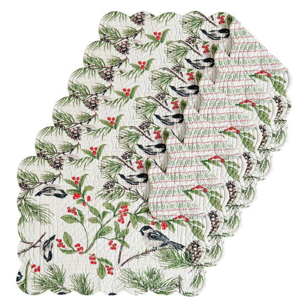 April Cornell Chickadee Green Placemat (Set of 6) 862622269S6
