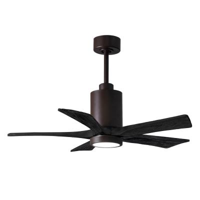 Patricia-5 42 in. Integrated LED Textured Bronze Ceiling Fan with Light Kit