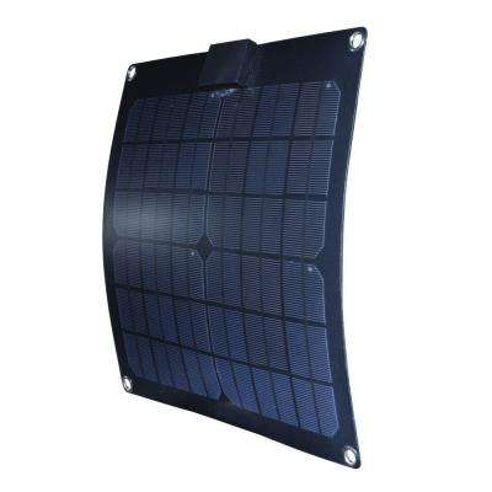15-Watt Semi-Flex Monocrystalline Solar Panel for 12-Volt Charging