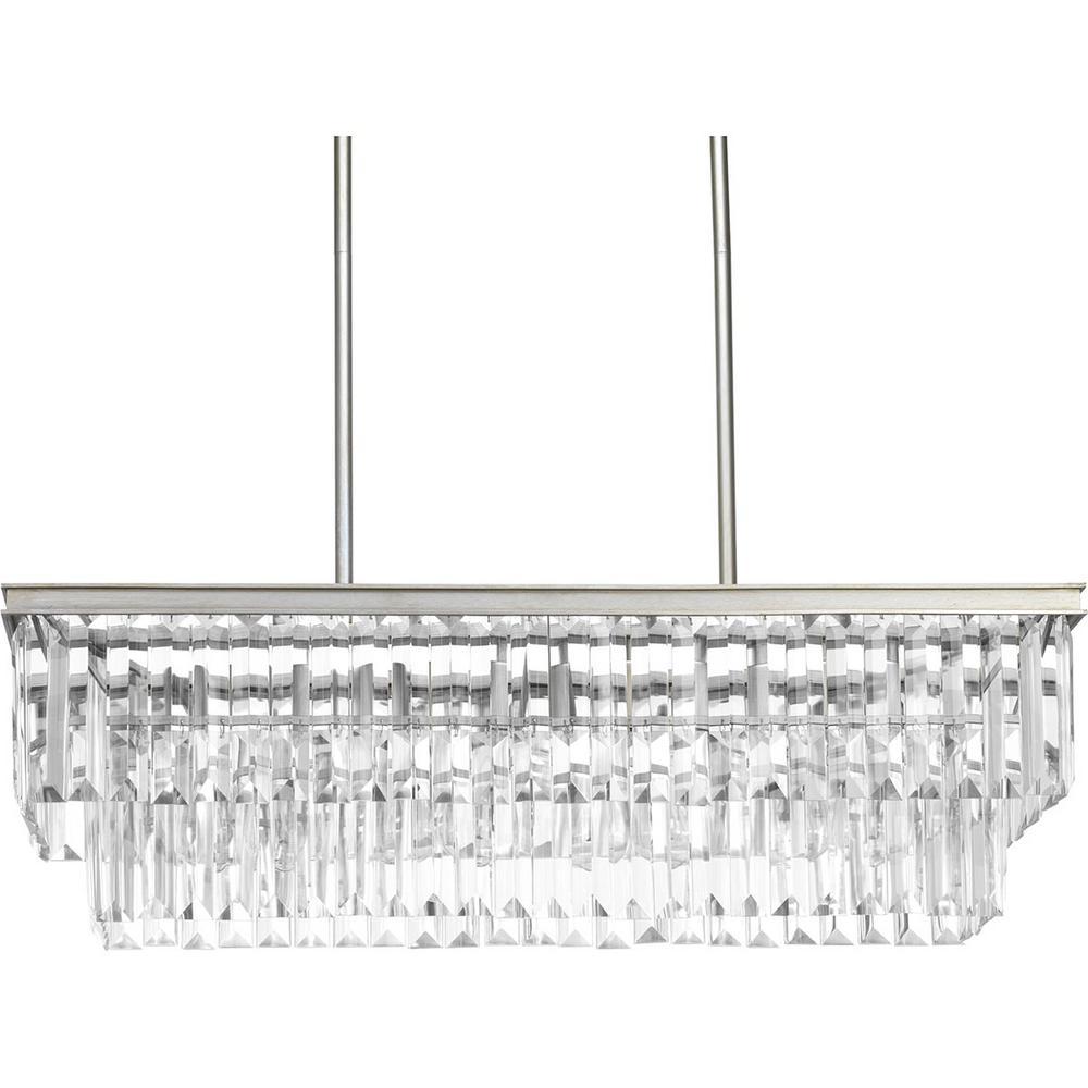 Glimmer Collection 4-Light Silver Ridge Chandelier