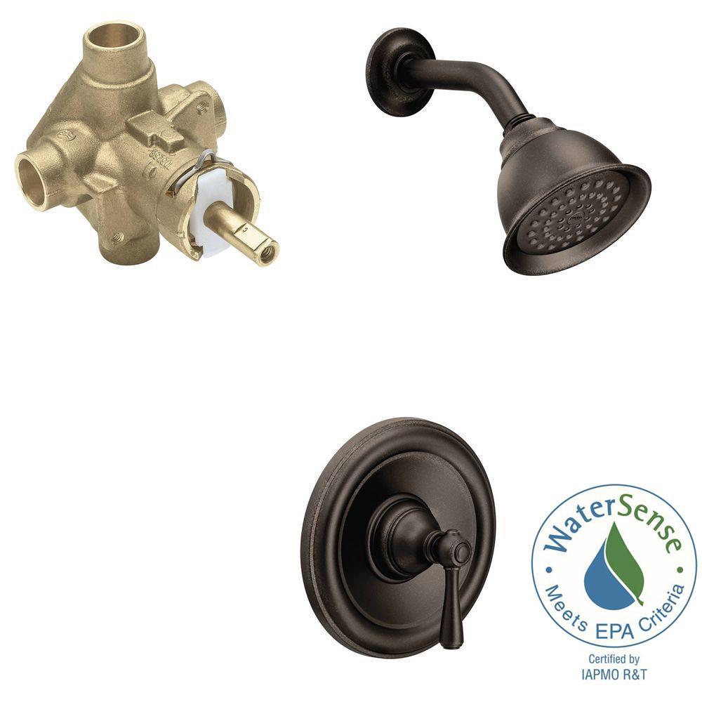 MOEN Kingsley Single-Handle 1-Spray Eco-Performance Shower Faucet ...