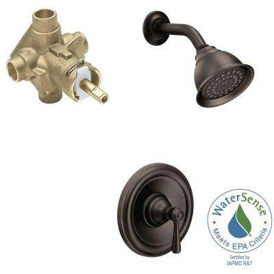 Kingsley Single-Handle 1-Spray Eco-Performance Shower Faucet Trim Kit with Valve in Oil Rubbed Bronze (Valve Included)