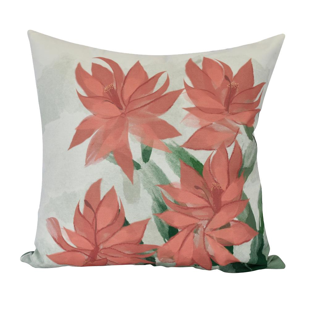 christmas cactus indoor decorative pillow