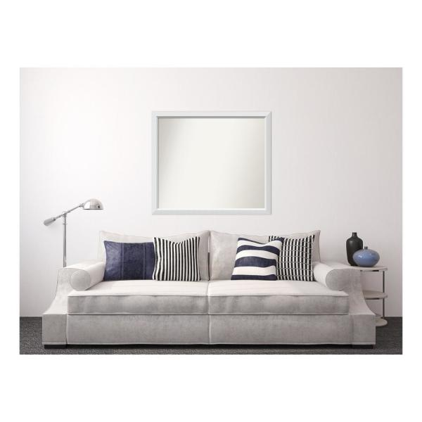 Amanti Art 38 in. x 44 in. Blanco White Wood Framed