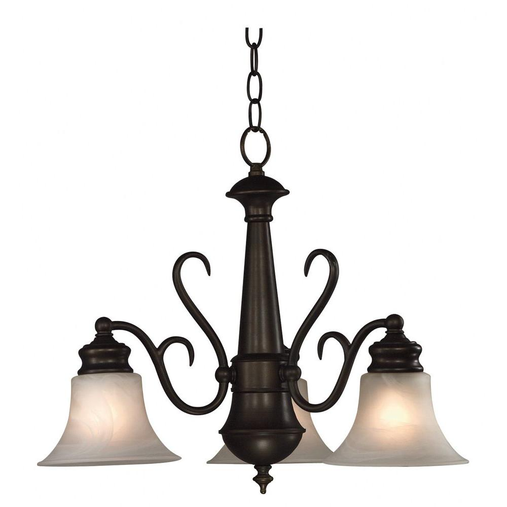 Kenroy Home Wynwood 3-Light Burnished Bronze Chandelier -DISCONTINUED