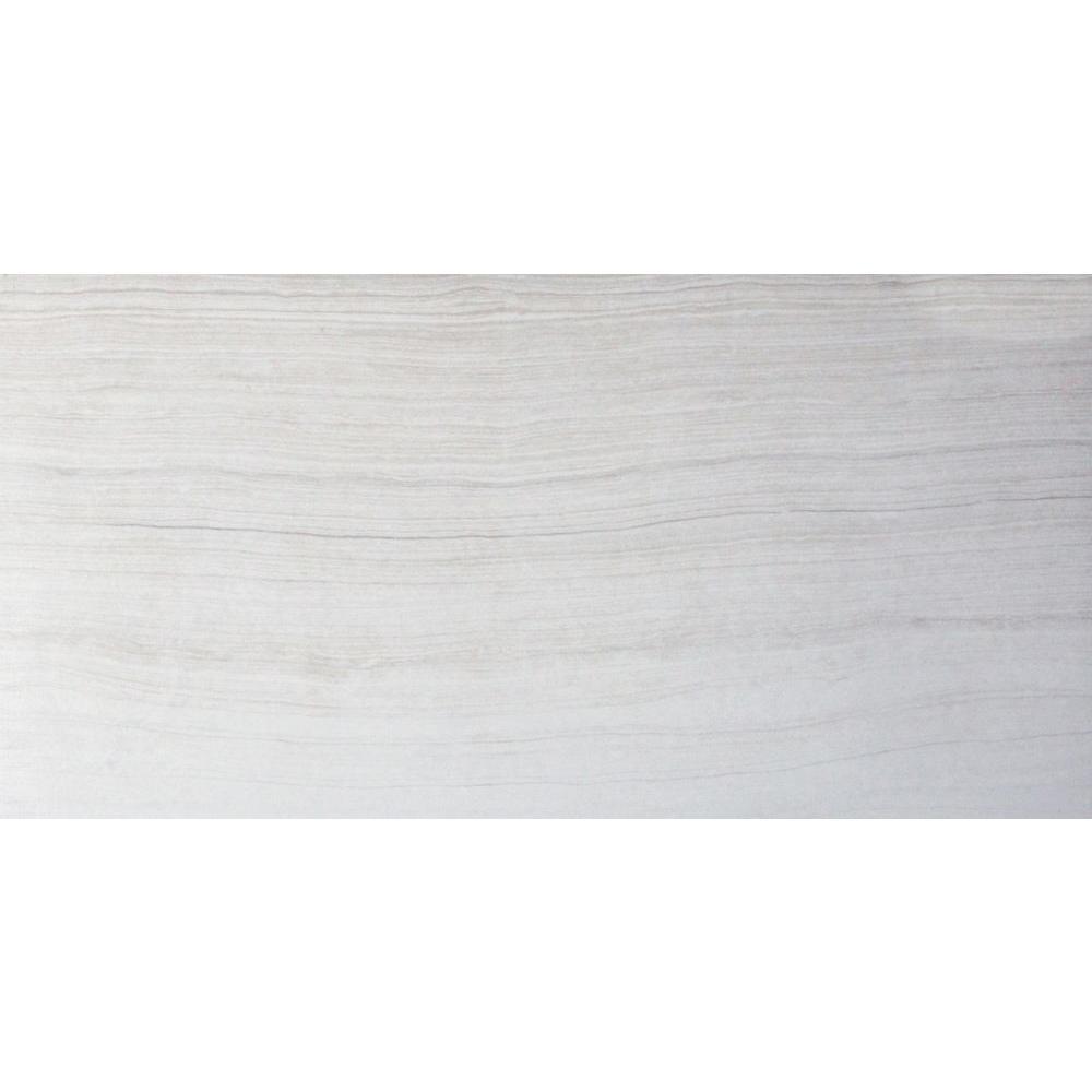Eramosa Glacier 12 in. x 24 in. Glazed Porcelain Floor and