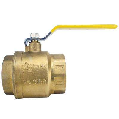3 in. Brass FNPT x FNPT Full-Port Ball Valve