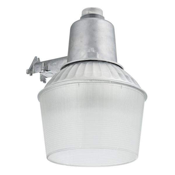 Lithonia Lighting 1 Light Dusk To Dawn Metal Outdoor Halide Area Light Oal12 100m 120 Per Lp R2 The Home Depot