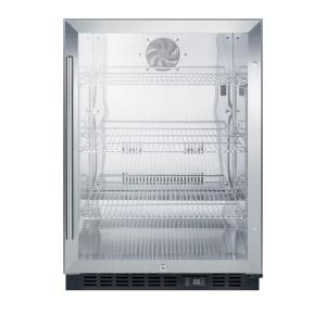 Click here to buy Summit Appliance 24 inch 5 cu. ft. Commercial Refrigerator in Black by Summit Appliance.