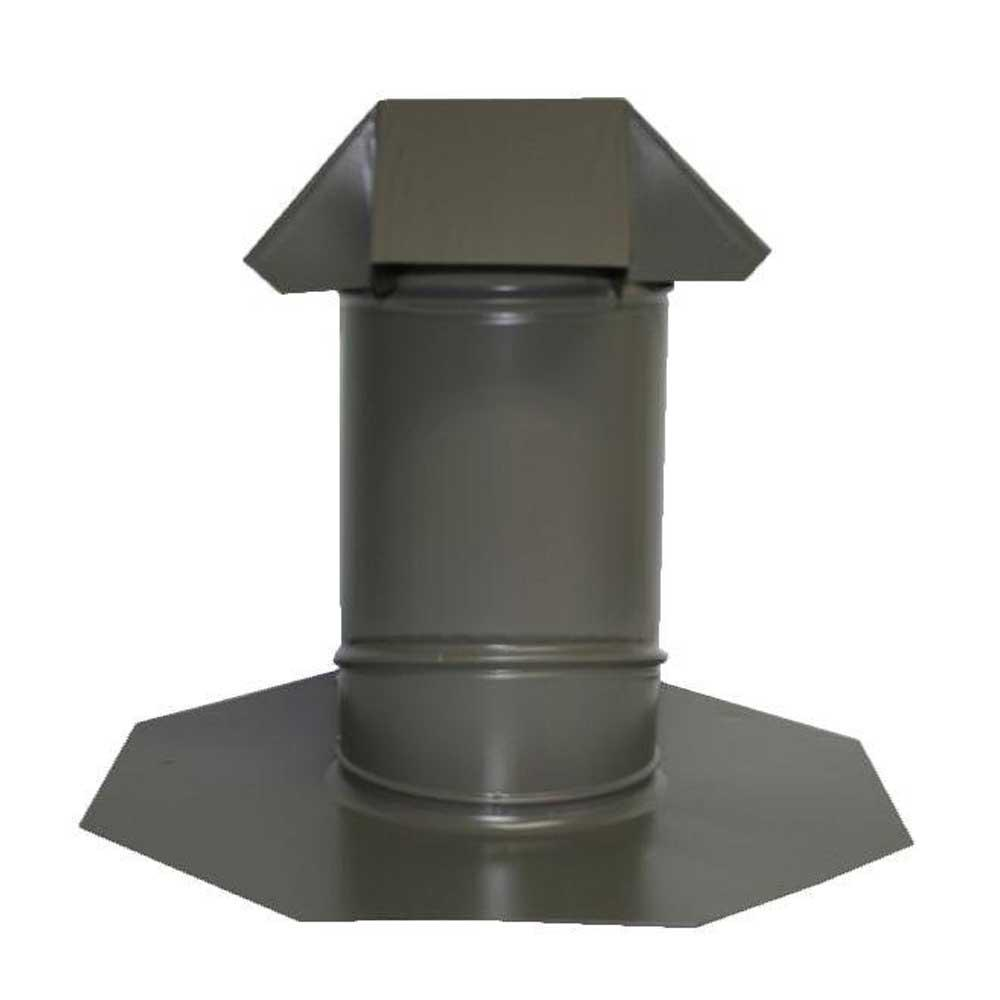 6 in. Adjustable Pitch Galvanized Steel Pipe Flashing in Weathered Wood