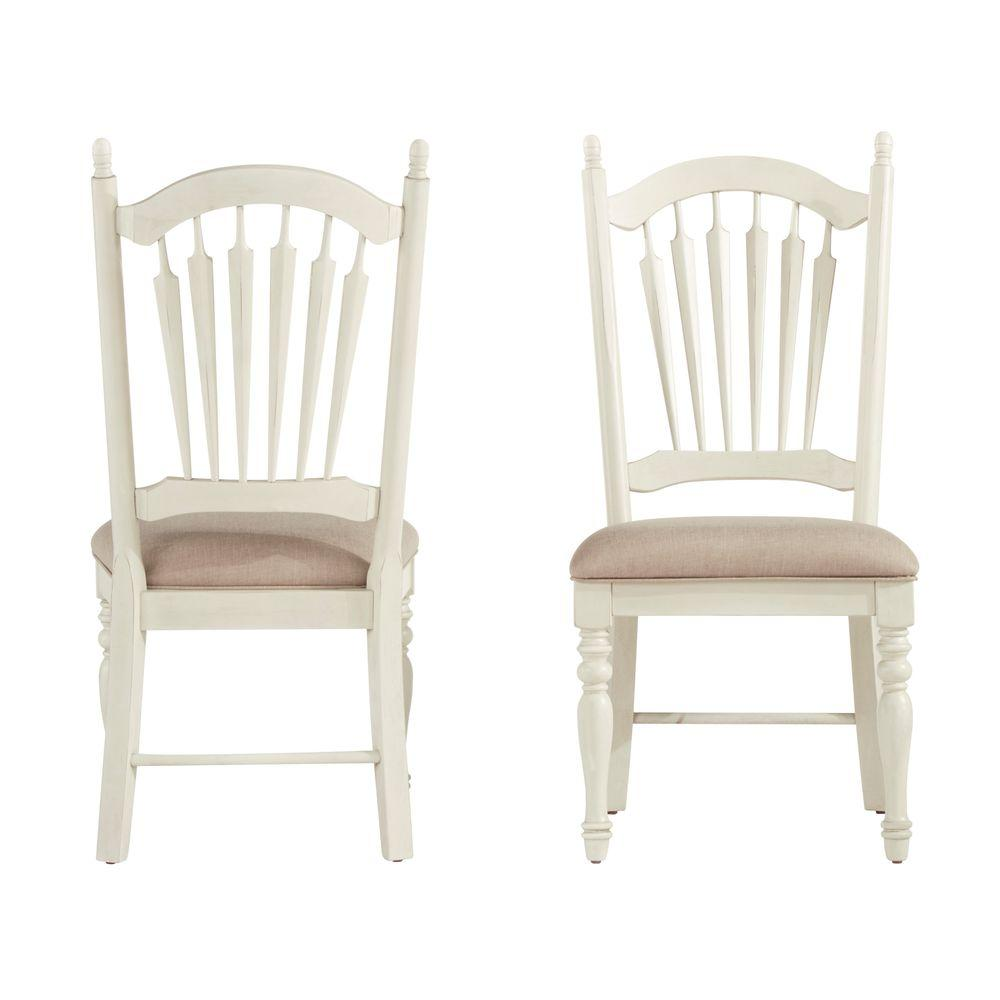 HomeSullivan Margot Antique White Wood Dining Chair (Set of 2) - HomeSullivan Margot Antique White Wood Dining Chair (Set Of 2